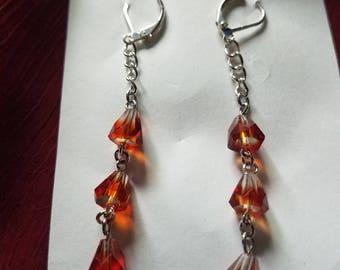 Sterling plated crystal earrings