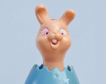 Vintage Hard Plastic Bunny . Easter Decor. Head Moves . 1950s/Easter Collectible