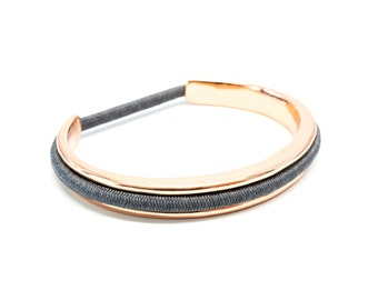 Hair Tie Bracelet, Hair Tie Bracelet Holder - Classic Design Steel Rose Gold