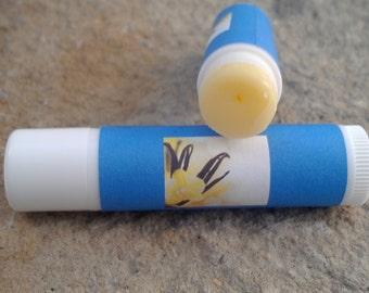 Vanilla Lip Balm - set of 5 - organic skincare - herbal lip balms - dry skin relief - organic lip balm - winter skin relief