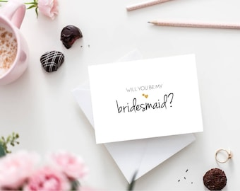 Will You Be My Bridesmaid / Bridesmaid Proposal Card / Bridal Party Cards / Wedding Party Proposal / I Can't Say I Do Without You Card