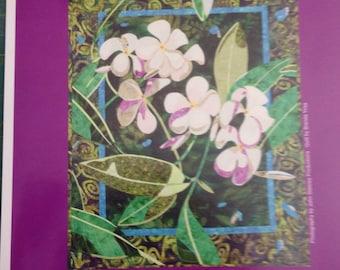 Plumeria quilt pattern by Bigfork cotton company