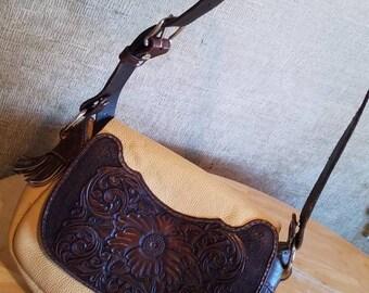 Vintage Hand Tooled Leather Purse