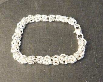 Byzantine Argentium Sterling Silver Bracelet