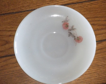 Vintage Fire King Saucer with Red Flower