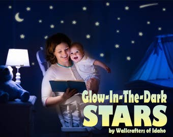 Baby Shower Gift, Glow in the Dark Ceiling Stars, Baby Gift, Baby Baptism Gift, Nursery Decor, Gift for Baby, Night light alternative