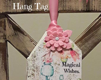 NEW Wooden Whimsical Hang Tag - Dino - Magical Wishes