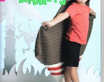 Animal Blankets ~  Crochet Book  ~  Leisure Arts ~ NEW RELEASE