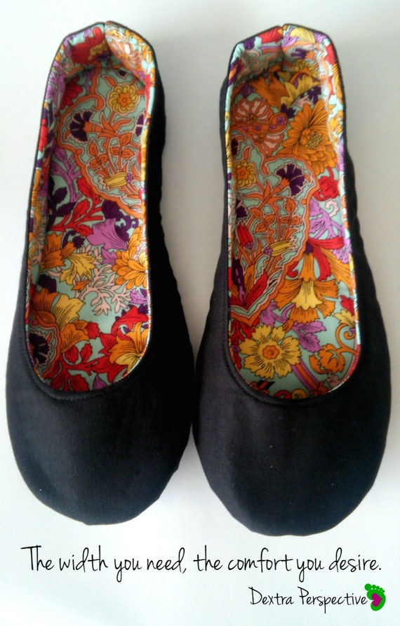 Casual Black Flats Custom Black Ballet Flats With Leather