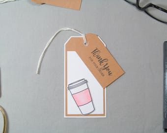 Business Thank You Tags - Small Business Tags - Tumbler Tags - Mug Tags - Handmade Seller Tags - Handmade Business Tags - Thank You Tags