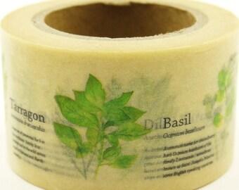 Herbs - Japanese Washi Masking Tape - 30mm wide - 11 Yard - no discount