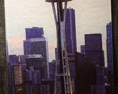 Seattle Space Needle - Glass Cutting Board 7.75in x 10.75in