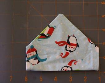 Christmas penguin slip on collar dog bandana