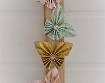 Origami butterflies wall decor