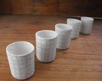 Porcelain weave tealights design