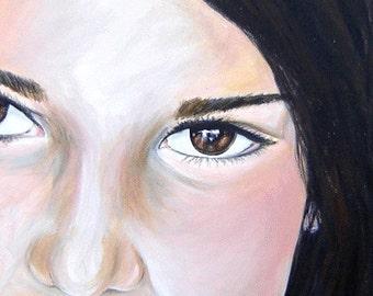original commissioned acrylic on canvas custom portrait