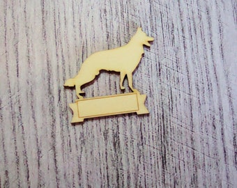 Shepherd Dog 1106 with Word of your choice of wood for your creations