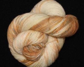 Fine Organic Merino Wool Speckled--Worsted Weight--Granite