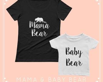 Mama Bear and Baby bear shirts - mama bear and baby bear, mama bear baby bear, mama bear and baby bear shirt, mama bear shirt