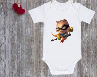 Baby onesie League of Legends onesie Teemo Baby boy clothes Must have onesie Funny baby clothes Baby shower gift Christmas gifts For baby