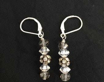 Sterling Silver Lever back earrings