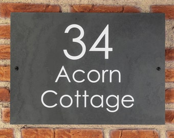 Personalised Slate / House Sign / Plaque / Door / Number / Gate / 350mm x 250mm