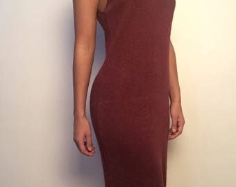 "Long tight vintage ""hook"" style dress"