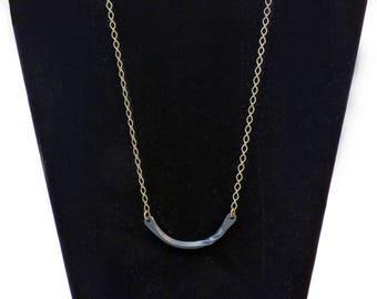 Crescent Steel Twist Necklace