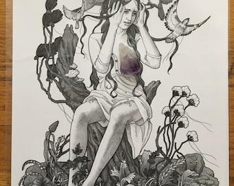 I Felt A Funeral In My Brain - Giclee Print 11x14