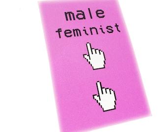 "Pink the New Man 2x3"" sticker"