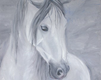 Digital Grey Horse Portrait JPG/horse art/download/Printable Art/to print/