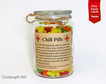 Funniest Personalized Chill Pills Teacher / Educator