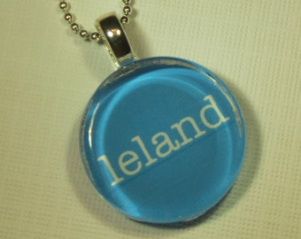 LELAND Michigan Glass Pendant Necklace with Silver Chain