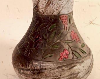 Smoke-fired Berry Vase