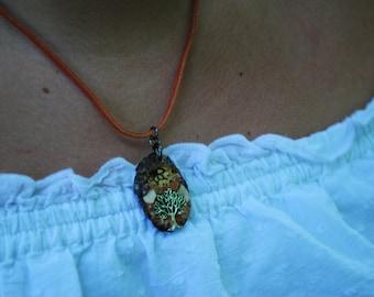 Wood piece pendant