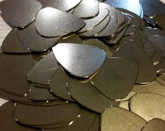 Destash, guitar picks, plectrums, Stainless steel guitar picks, stainless steel plectrums x12
