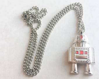 1980s Robot Necklace by Avon