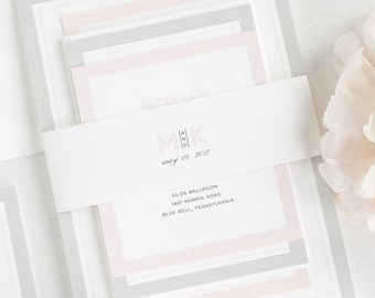 Modern Initials Wedding Invitations - Sample