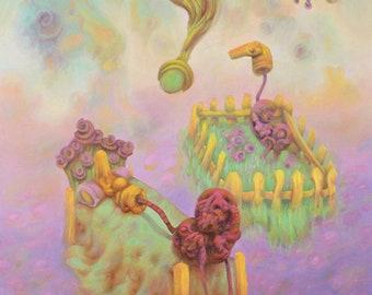 Visionary Art, Weird Art, Colorful Wall Art, Original Surrealism, Surreal Painting, Werid Stuff, Large Wall Art, Abstract Canvas Art, Modern