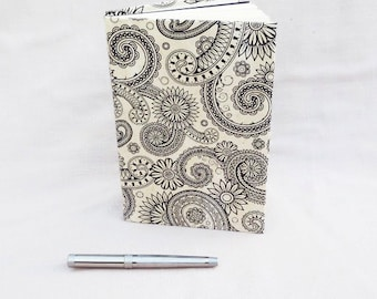 Recycled Book Journal | Black White Journal | Repurposed Book Notebook | Bohemian Journal | Blank Journal | Diary |  Gift for Teacher