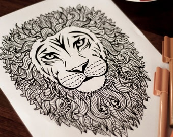Big Abstract Coloring Pages : Bff best fucking friend ever adult coloring page by the