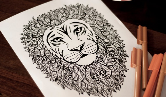 Intricate Coloring Pages For Adults : Adult coloring pages animals elegant detailed and intricate pig