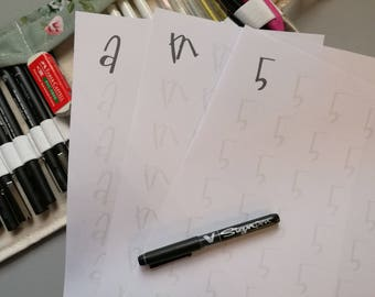 Daffodils Font Letters&Numbers