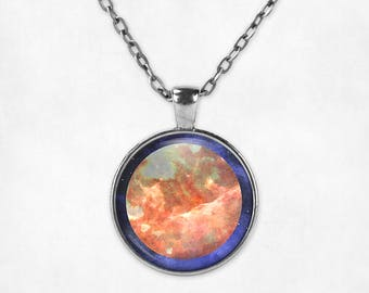 Mars Pendant Necklace | Mars Necklace Mars Jewelry Space Jewelry Planet Jewelry Watercolor Galaxy Necklace Astronomy Space Grunge Science