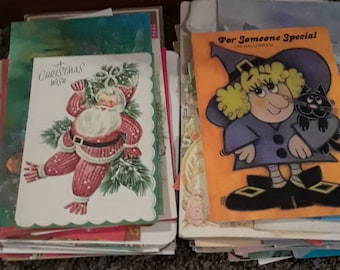 Vintage greeting cards lot of 70+ 1950s 1970s