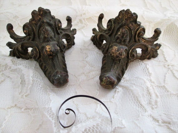 1 Set of Original Antique Cast Metal Mantle Clock Claw Feet for your Clock Projects, Steampunk Art, Metalworks and Etc...