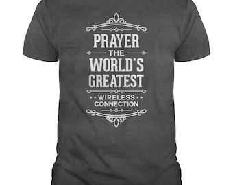 Prayer Shirt - Wifi Prayer T shirt - Funny Faith Tshirt - Christian Tshirts - Religious Tshirts - Prayer T shirts - Gift for Prayers - 5XL