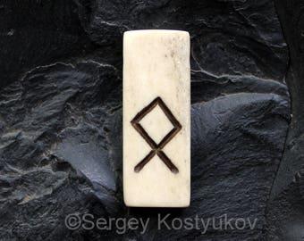 Rune Othala Odal Bone Pendant Viking Rune Necklace Elder Futhark Rune Othal Amulet Talisman Asatru Nordic Jewelry