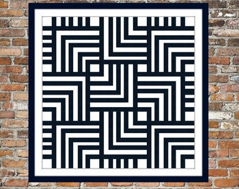 Square Chevron - a Counted Cross Stitch Pattern