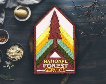 "National Forest Service Patch | Sew On | Embroidered | Patches for Jackets | 2.75"" (Free Shipping US)"